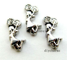 10pcs Cheerleader Floating Charms Fit Living Memory Locket FC638 Free Shipping