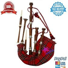 New Highland Bagpipe Natural Rosewood Silver Mounts/Scottish Bagpipes/Bagpipes