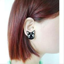 Cosplay Lovely Harajuku Ainme Sailor Moon Cute Luna Black Cat Earrings Acrylic