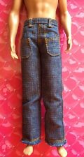 Barbie Ken Doll Clothes DENIM LOOSE FIT JEANS W/ FRONT POCKETS Vintage Retro