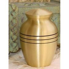 """Pet cremation funeral urn, solid brass ash for pets - 6"""" - 40 LBS"""