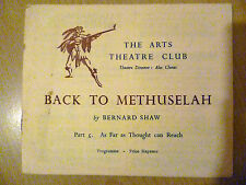 .1947 Arts Theatre Club Programme: BACK TO METHUSELAH Part 5:As Far as Thought