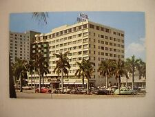 VINTAGE PHOTO POSTCARD OF THE BISCAYNE TERRACE HOTEL IN MIAMI, FLORIDA UNUSED