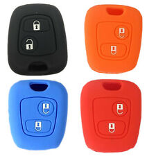 SILICONE CAR REMOTE KEY COVER CASE HOLDER ACCESSORIES Fit For PEUGEOT 206 307