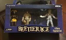 Neca Beetlejuice 4pc Figurine Set Beetlejuice Shrunken Head Guy 2001