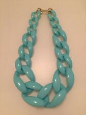 "Chunky Light Blue Aqua Resin Iris Apfel type 20"" Statement Necklace Christmas"