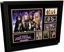 STEEL PANTHER SIGNED LIMITED EDITION FRAMED MEMORABILIA