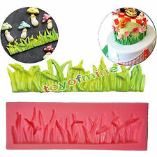 Grass Silicone Mould Fondant Cake Chocolate Clay Sugar Lace Pastry Icing Mold