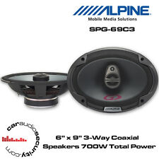 "Alpine SPG-69C3 - 6 x 9"" 3-Way Car Coaxial Shelf Speaker 700 Total Power"