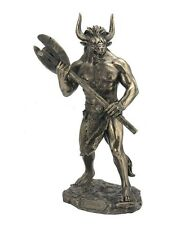 "11"" Minotaur w/ Labrys Statue Sculpture Figure Greek Mythology Figurine"