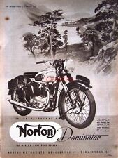 1952 NORTON 'Dominator' Motor Cycle AD #8 - Vintage Original Print ADVERT