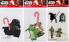 DISNEY Star Wars Holiday Window Gel Clings ft. Darth Vader, Yoda, C-3PO, R2-D2