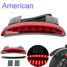 Red Chopped Fender Edge LED Tail Light For Harley Davidson XL Sportster 883 1200