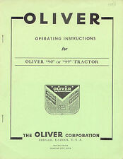 "Oliver ""90"" and ""99"" Operators Manual (4 Cylinder) reprint"