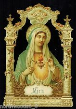 MARY MADONNA MARIA MOTHER ALTAR SHRINE DIORAMA EMBOSSED GERMAN PAPER SCRAP CARD