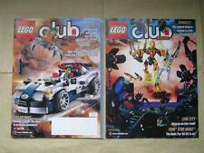 LEGO CLUB Lot of 2 Magazines dated July-August 2008 & Sept-Oct 2009