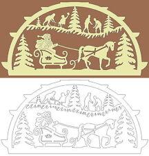 Schwibbogen-Vorlage: Weihnachtsfreude