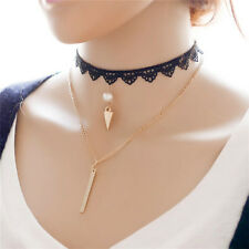 Gothic Retro Vintage Velvet Lace Charm Pendant Choker Collar Necklace Jewelry ab
