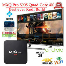 MXQ PRO Amlogic S905 Wifi 4K Quad-Core Android 6.0 OTT Smart HDTV TV Box Set
