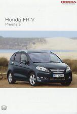 Preisliste Honda FR V 4 06 2006 Preise price list Auto PKWs Japan Autopreisliste