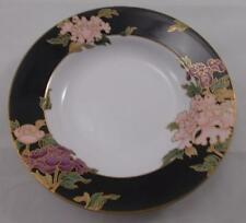 Fitz and & Floyd - CLOISONNE PEONY rimmed soup / dessert bowl 23.5cm UNUSED
