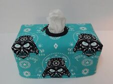 Darth Vader Sugar Skulls Tissue Box Cover With Circle Opening - Great Gift Idea