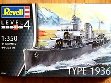 Revell 1:350 Type 1936 German Destroyer Ship Model Kit