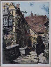 Rudolf VEIT (1892-1979)  Wartburg - Burg in Thüringen - Farbradierung