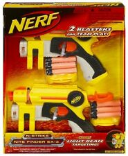 Brand New NERF N-Strike NITE FINDER EX-3 Dart BLASTER 2 Pack ORIGINAL