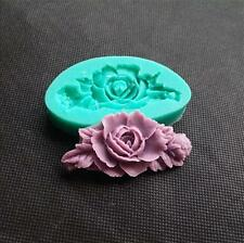 DIY Rose Flower Fondant Cake Decoration Molds Silicone Resin Clay Mould