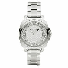 Women's Coach Boyfriend Tone Silver Crystal Glitz Watch 14501993