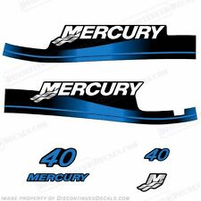Mercury 2000 - 2001 40hp 2-Stroke Outboard Decal Kit *Blue* - In Stock!