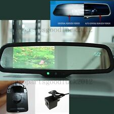"Auto dimming car rearview mirror+4.3"" LCD+compass+temp+camera,fit some Honda"