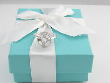 TIFFANY & CO SILVER ATLAS MEDALLION RING BAND SIZE 7.5 BOX INCLUDED