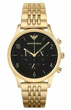 NEW EMPORIO ARMANI AR1893 MENS BETA GOLD CHRONOGRAPH WATCH