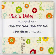 "Moda FABRIC Charm Pack ~ ONE FOR YOU ONE FOR ME ~ by Pat Sloan 42 - 5"" sqs"