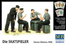 MASTER BOX™ 3525 WWII German Tank Crew Skatspieler FIGUREN in 1:35