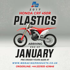 UFO Plast 5 Piece Motocross Plastic Kit Honda CRF 450 2017 OEM Colours
