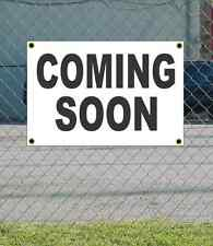 2x3 COMING SOON Black & White Banner Sign NEW Discount Size & Price FREE SHIP