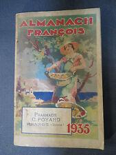 Ancien livre Almanach Francois 1935 actualités années 1930 journal magazine