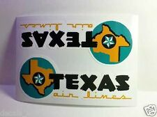 Texas Air Lines Vintage Style Travel Decal / Vinyl Sticker,Luggage Baggage Label