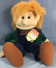 """Folkmanis 24"""" Boy Two Handed Puppet Bill Boy New with Tag NWT"""