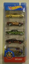 HOT WHEELS 2017 *HW FLAMES 5-PACK* Impala,Camaro,Nova,Shelby,Dodge Van