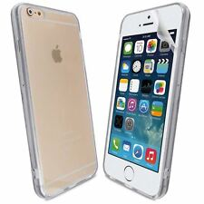 White Gel Acrylic For iPhone 6G Plus 5.5 0.5MM Ultra Thin Case Cover+Screen Film