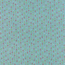 Moda Sweetwater Cookie Exchange Christmas Peppermints Fabric in Aqua 5622-16
