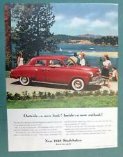 Orig 1948 Studebaker Comander Ad OUTSIDE A GREAT LOOK, INSIDE A GREAT OUTLOOK