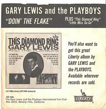 GARY LEWIS/PLAYBOYS--PICTURE SLEEVE ONLY--(DOIN' THE FLAKE)--PS---PIC---SLV