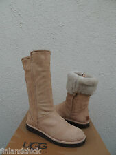 UGG ITALIAN COLLECTION ABREE CHESTNUT SNAKE SHEARLING BOOTS, US 7/ EUR 38 ~NEW