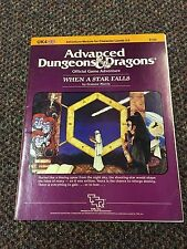 Advanced Dungeons And Dragons When A Star Falls Module UK4 AD&D TSR 9120 1984