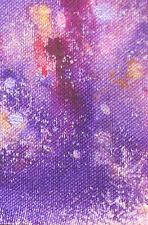 ACEO ORIGINAL PAINTING by Studio Angela Purple/Pink Abstract #4
